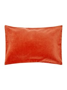 Living by Christiane Lemieux Metallic velvet reverse cushion, rust