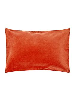 Metallic velvet reverse cushion, rust