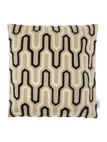 Living by Christiane Lemieux Geometric embroidered, black and taupe