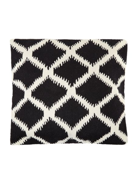 Living by Christiane Lemieux Crewel stitch cushion, black and white