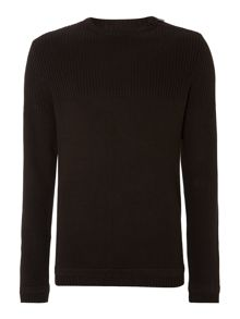 Mens shoulder zip knitwear