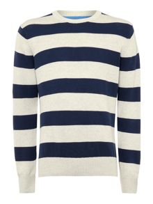 Fleet stripe crew jumper