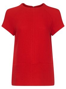 Jaeger: Textured Pocket Detail Top