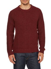 Mens long sleeve textured body jumper