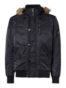 Mens neck trim parka
