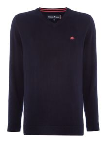 Raging Bull V-Neck Cotton Cashmere Jumper