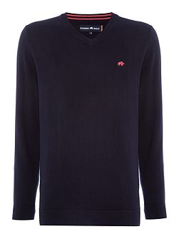 V-Neck Cotton Cashmere Jumper