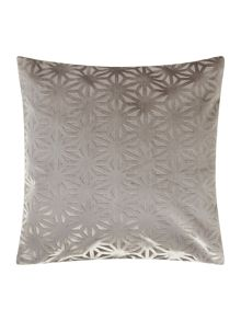 Cross velvet cushion, grey