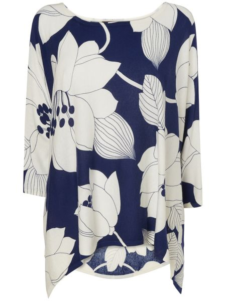 Phase Eight Margo print knit top