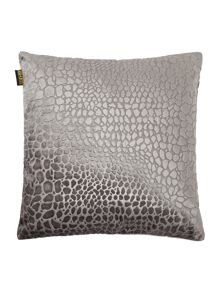 Leopard jacquard cushion, grey