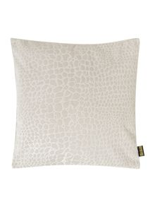 Biba Leopard jacquard cushion, cream