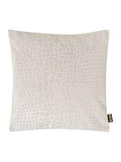Leopard jacquard cushion, cream