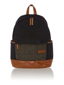 Canvas and tweed backpack