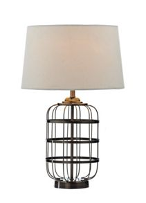 Johanna metal frame barrell table lamp
