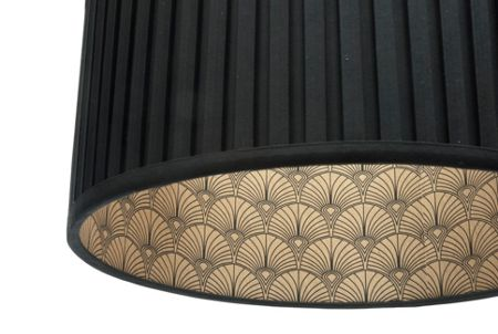 Biba Rio black pleated shade with gold print