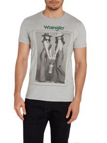 Crew Neck Regular Fit T Shirt In Cowgirl Print
