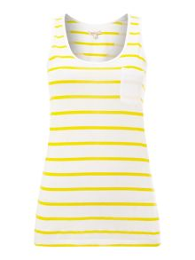 Barbour Berryhead printed stripe vest top