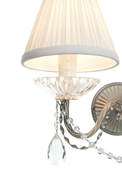 Shabby Chic Elizabeth 2 LT antique silver wall light