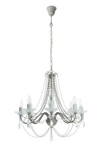 Shabby Chic Elizabeth 8LT antique silver chandelier