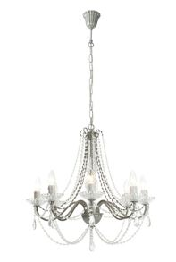 Elizabeth 8LT antique silver chandelier