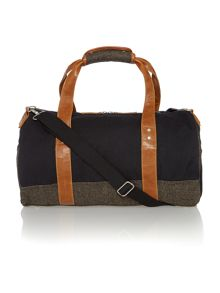 Canvas and tweed holdall