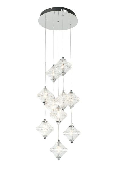 Linea Beverley 10LT scallop glass ceiling cluster