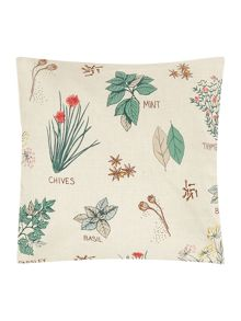Herb print cushion