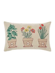 Triple herb pot cushion