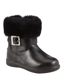 Girls boots with Diamante Buckle
