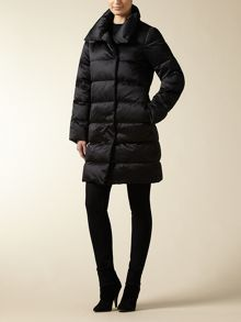 Long Stetch Satin Puffer