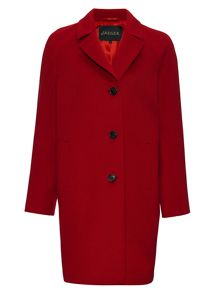 Three Button Wool Coat