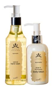Spice Island Venival Hand Wash & Ginger and Lemongrass Lotion