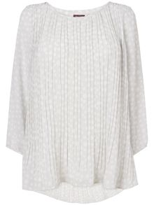 Phase Eight Nicole spot pleat blouse