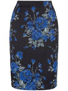 Catrin rose jacquard skirt