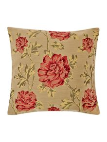 Linea Floral jacquard pink cushion