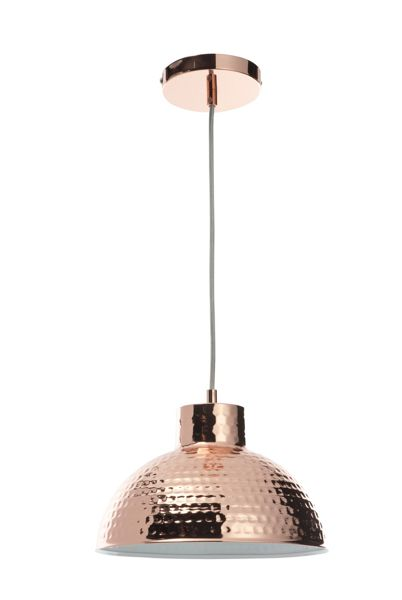 Casa Couture Alessandra Hammered Copper Pendant