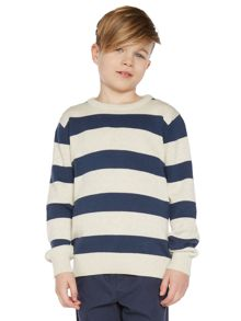 Boys Block Stripe Knitwear
