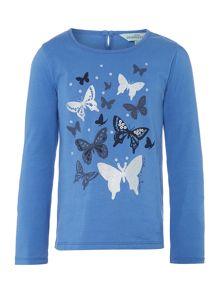 Girls long sleeved butterfly tee