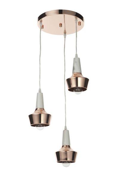 Casa Couture Liliana Marble and Copper Ceiling Cluster