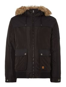 Padded Fur Trim Jacket