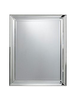 Westbury glass framed mirror 100 x 80 cm