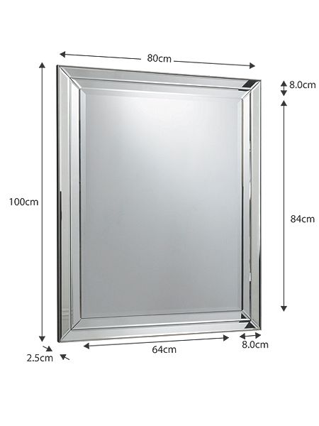 linea westbury glass framed mirror 100 x 80 cm house of