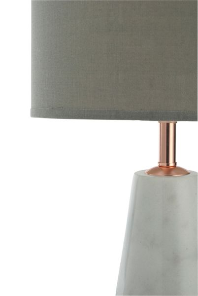 Casa Couture Liliana Marble And Copper Table Lamp