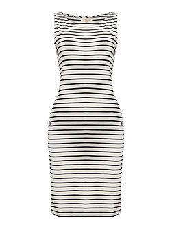 Dalmore stripe jersey shift dress