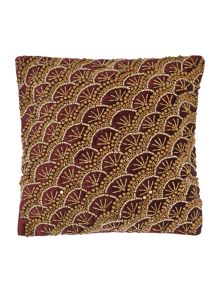Biba Jewel gold fan cushion