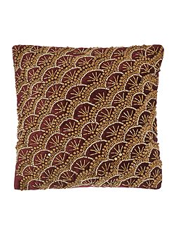 Jewel gold fan cushion