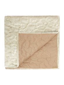Biba Gold embroidered leopard throw mink