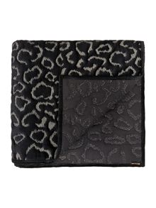 Biba Gold embroidered leopard throw black