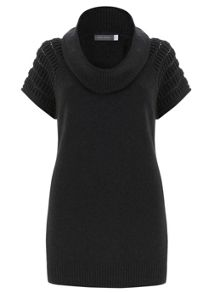 Charcoal Ridge Shoulder Knit