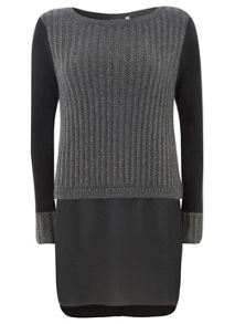 Metallic Knit Double Layer Knit